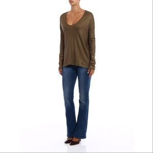 Majestic Filatures Deluxe Tee V-Neck Tunic Length